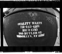 Quality Waste (New Paltz, NY) Tags: sign brooklyn ny new york bob esposito mamiya msx 1000 camera yellow filter kodak safety film expired 35mm size xtol 11 developer epson v800 scanner