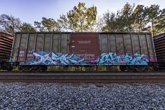 (o texano) Tags: houston texas graffiti trains freights bench benching timber