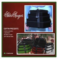 Coffin Presents (*StarSugar*) Tags: coffin presents packages christmas pastel goth creepy star sugar xmas second life sl santa