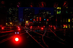 The Lights of Clinton Street (BravoDelta1999) Tags: metra metx unionpacific up railroad chicagoandnorthwestern cnw railway ogilvietransportationcenter madison street northwestern station clinton interlocking chicago illinois