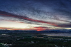 Dusk at Lake Titicaca (marko.erman) Tags: lake travel late afternoon sky clouds shore rocks sony latinamerica southamerica dusk outside outdoor colors mood moody totora