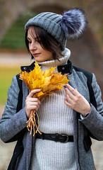 fall 2019 = modème : Alysson J (raccoontof) Tags: fall 2019 raccoontof zedhennuy orange portrait yellow femme face flower fashion girl