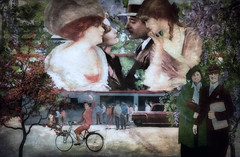 Another Place Another Time (larwbuck) Tags: artistic autumn california composite elements fall fantasy mural painterly textures