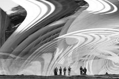 Observing space warp (ashokboghani) Tags: fantasy digitalart digitalpainting abstract abstractart photoshop photoshopart modernart blackandwhite monochrome