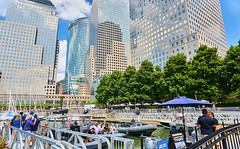 S190808(5)_0041 (davidben33) Tags: summer 2019 newyork lowermanhattan street streetphotography architecture landscape cityscape people portraits macro women girl beauty fashion 718 hudsonriver boats vessels sky clouds waterfront shore pumphousepark newyorkclassicharbor yachts