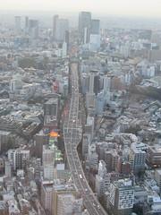 Tokyo Tower View: Dusk and Dark (bakpacker) Tags: japan tokyo aerialviews seenfromabove