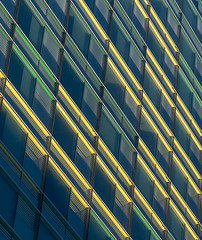 A colourful wall III (jefvandenhoute) Tags: belgium brussels light lines wall colors yellow green windows