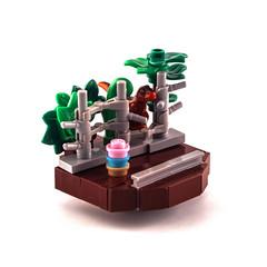 T-rex Breakout (Mark van der Maarel) Tags: xmas christmas micro bauble lego afol moc trex jurassic jurassicpark dino roguebricks