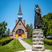 """""""Evangeline"""" and St. Charles des Mines Memorial Chapel (scarbo4) Tags: grandpré novascotia canada"""