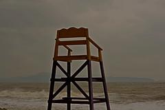 The Sentinel (Hanoi North End) Tags: bãixép quinhơn quynhon việtnam vietnam bìnhđịnh chair lifeguardschair pentax pentaxart pentaxda50mmf18 pentaxk70 1596000 1684