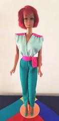 Julia in green & pink jumpsuit (kowak88) Tags: tnt julia mattel black nurse diahann carroll vintage 1127 1968 1969 twistn turn