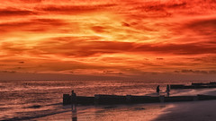 IMG_1304_IndianRocksSunset (RB Creative Images LLC) Tags: indian rocks beach florida sunset sillouette backlit clouds water sand landscape