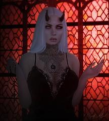 Christian Woman (Vanjah Rajal) Tags: secondlife sl demon vampire goth gothic dark church maitreya doux