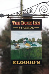 The Duck Inn pub sign Stanhoe Norfolk UK (davidseall) Tags: the duck inn pub sign stanhoe norfolk uk tavern bar public house houses gb british english elgoods hanging