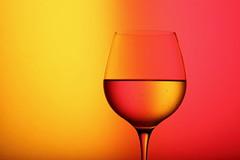 Liquid (*Chris van Dolleweerd*) Tags: liquid wine drink glass wineglass water reflection red yellow studio strobist cheers chrisvandolleweerd
