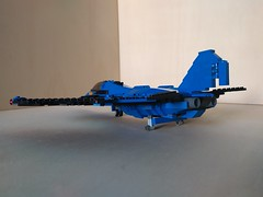 """Lego Advanced Fighter Jet """"Ragnarok"""" (4) (Parm Brick) Tags: lego military air moc mod afol modern force supersonic adavanced fighter jet stealth superiority forwardswept wing"""