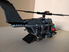 """Lego """"Leviathan"""" Heavy Helicopter (3) (Parm Brick) Tags: lego military air moc mod afol heavy helicopter army modern force"""