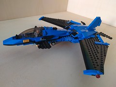 """Lego Advanced Fighter Jet """"Ragnarok"""" (2) (Parm Brick) Tags: lego military air moc mod afol modern force supersonic adavanced fighter jet stealth superiority forwardswept wing"""