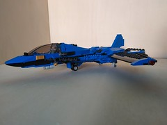 """Lego Advanced Fighter Jet """"Ragnarok"""" (3) (Parm Brick) Tags: lego military air moc mod afol modern force supersonic adavanced fighter jet stealth superiority forwardswept wing"""