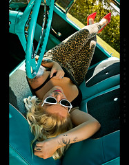 Takin a Breather (Whitney Lake) Tags: model fall 2019 photofest psychosilo vintage retro blonde woman girl pinup