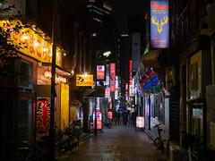 Tokyo night alley (kasa51) Tags: night light sign alley narrowstreet