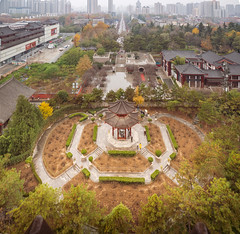 Pavilion view from above.jpg (melissaenderle) Tags: architecture shaanxi buddhism xian asia seasons autumn weather china religion fall season