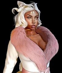 Those Lips Tho' (JustCallMeRizzo) Tags: secondlife sl avatar blog bloggers blogging fashion hair oil oilpaint paint 3d pose edit photo picture