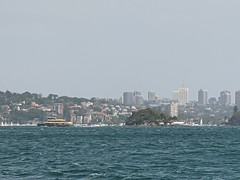 Looking across the harbour on the ferry back (can see Wine Isl!) (koukat) Tags: sydney harbour water ferry balmoral beach australia view nsw green