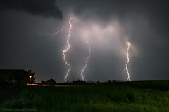 Carpathian Foothills Lightning (mesocyclone70) Tags: lightning thunderstorm storm romania transylvania stormchase stormchasing night ngc