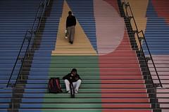 DSCF4804 (jhnmccrmck) Tags: southerncrossstation melbourne victoria 3000 fujifilm fujifilmxt1 classicchrome xt1 xf1855mm stairs