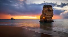 Sunrise at the Beach (AlexKr81) Tags: algarve portugal sunrise seascape