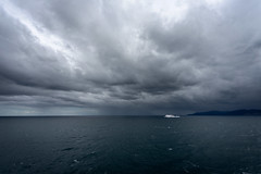 46 of 52 Weeks (Lyndon (NZ)) Tags: ilce7m2 sony newzealand nz 2019 week462019 startingtuesdaynovember122019 52weeksthe2019edition weather storm cloud boat ferry cookstrait nature ocean pacificocean transport