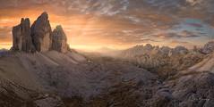 Middle-earth IV (sberkley123) Tags: trecimedilavaredo dolomites sunset trecime dreizinnen drone mountains italy fall mavic2pro europe dji valley