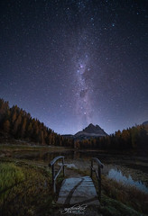 Milky Way II Lake Antorno -Dolomite Italy (CK NG (choookia)) Tags: milkyway lakeantorno dolomite italy astro reflection bridge nightscape nightview