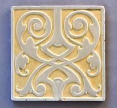 Doulton moulded tile (robmcrorie) Tags: william james neatby spanish moorish moulded tile ceramic victorian arts crafts 19th century