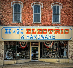 Main St. Electric (James Korringa) Tags: manistee michigan store hardware electric storefront old