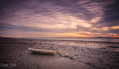 Rivers Edge. (Simon Rich Photography) Tags: heybridge basin essex maldon rowing boat low tide river estuary sand bouy chain sun sunset colours clouds longexposure seascape landscape simonrich simonrichphotography mrmonts canon