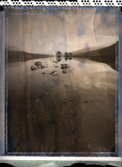 Loch Ossian (Mark Rowell) Tags: pinhole zero45 zeroimage polaroid type55 expired lochossian corrour scotland 5x4 4x5 largeformat film