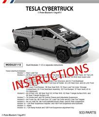 Tesla Cybertruck - Instructions now Available on Rebrickable (lego911) Tags: tesla cybertruck instructions rebrickable truck pickup electric bev battery auto car moc model miniland lego lego911 afol part list teslamotors cybertruckinstructions teslainstructions buildthecybertruck lego911instructions