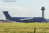 US Air Force Lockheed C5M Super Galaxy 050008 London Stansted Airport for Trump Visit 30 Nov 2019