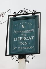 The Lifeboat Inn pub sign Thornham Norfolk UK (davidseall) Tags: the lifeboat inn pub sign thornham norfolk uk tavern bar public house houses gb british english hanging