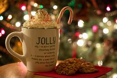 Be Jolly (amarilloladi) Tags: hotcocoa hotchocolate christmas christmaslights christmastree bokeh candycane cookies jolly mug sprinkles whippedcream words smileonsaturday mugswithwords oatmealbutterscotchcookies