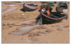 Oualidia (diaph76) Tags: extérieur maroc morocco plage beach sable sand barques boats filetsdepêche fishingnets paysage landscape
