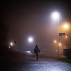 Fålhagen, Uppsala, November 20, 2019 (Ulf Bodin) Tags: lights höst sverige kväll night uppsala canonrf85mmf12lusm mist canoneosr sweden fog outdoor dimma autumn urbanlife uppsalalän
