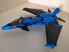 """Lego Advanced Fighter Jet """"Ragnarok"""" (Parm Brick) Tags: lego military air moc mod afol modern force supersonic adavanced fighter jet stealth superiority forwardswept wing"""