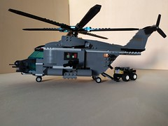 """Lego """"Leviathan"""" Heavy Helicopter (4) (Parm Brick) Tags: lego military air moc mod afol heavy helicopter army modern force"""