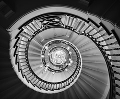 swirl (Illogical_images) Tags: illogicalimages sony a7r blackandwhite bw blackwhite bnw mono spiral staircase heals london