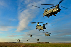 RAF Chinooks and Pumas in mass formation (Sarah Ward Aviatrix) Tags: raf chinook puma helicopter aircraft aviation plane flying military dramatic salisbury plain