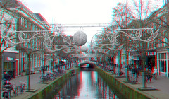 Oude Gracht Delft 3D (wim hoppenbrouwers) Tags: oudegracht delft 3d anaglyph stereo redcyan gracht canal