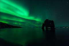 Hvitserkur (Jose Cantorna) Tags: iceland islandia hvitserkur aurora luz light nikon d810 playa beach landscape paisaje night noche